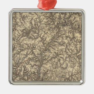 Military Operations of the Atlanta Campaign 2 Christmas Ornament