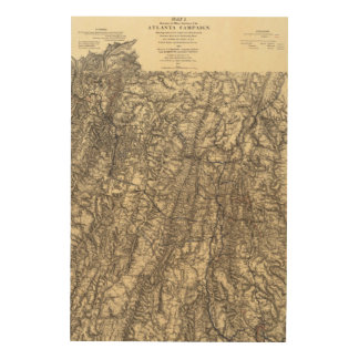 Military Operations of the Atlanta Campaign 2 Wood Print