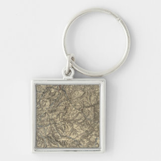 Military Operations of the Atlanta Campaign 3 Silver-Colored Square Key Ring