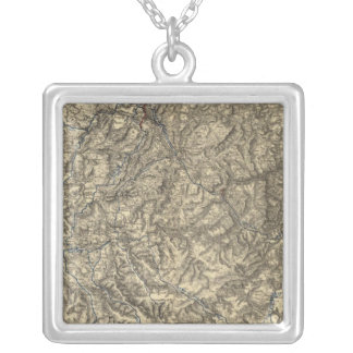 Military Operations of the Atlanta Campaign 3 Silver Plated Necklace