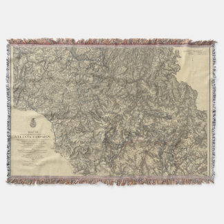 Military Operations of the Atlanta Campaign 3 Throw Blanket
