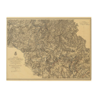 Military Operations of the Atlanta Campaign 3 Wood Prints
