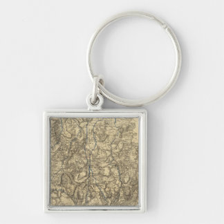 Military Operations of the Atlanta Campaign Silver-Colored Square Key Ring