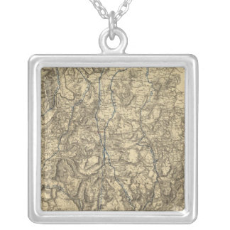 Military Operations of the Atlanta Campaign Silver Plated Necklace