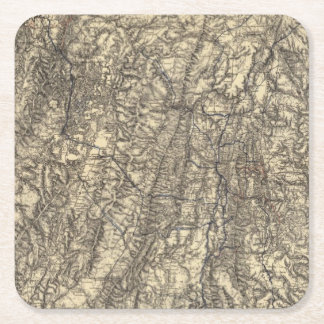 Military Operations of the Atlanta Campaign Square Paper Coaster