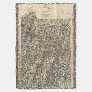 Military Operations of the Atlanta Campaign Throw Blanket