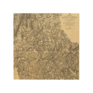 Military Operations of the Atlanta Campaign Wood Wall Art