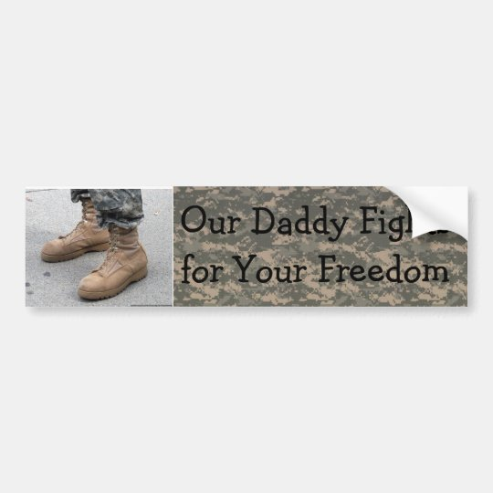 Military- Our Daddy Bumper Sticker