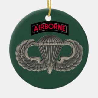 Military Parachutist Christmas Ornament