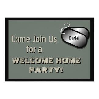Military Party Welcome Home Celebration Custom 13 Cm X 18 Cm Invitation Card