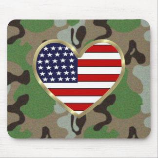 Military Patriotic USA Camo Mouse Mat