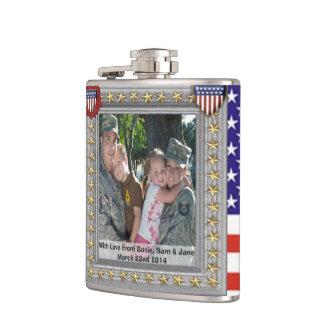military patriotic usa veteran customizable flask