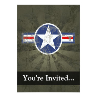 Military Patriotic Vintage Star Card