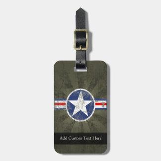 Military Patriotic Vintage Star Luggage Tag