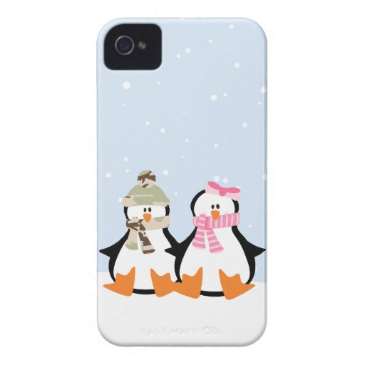 Military Penguin Couple iPhone 4 Case