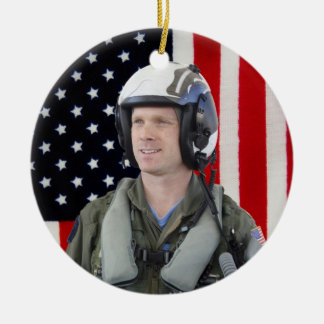 Military Photo Christmas Ornament