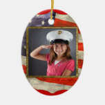 Military Photo Ornaments