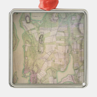 Military plan of Newport, 1777 Silver-Colored Square Decoration