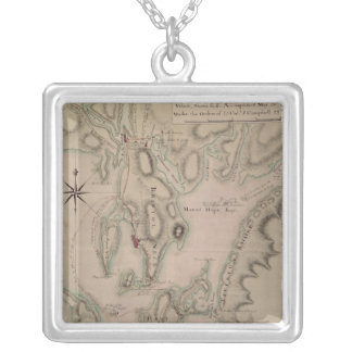 Military plan of the North Part of Rhode Silver Plated Necklace