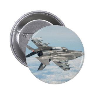Military plane 6 cm round badge