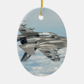 Military plane ceramic oval decoration