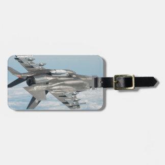 Military plane luggage tag