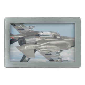 Military plane rectangular belt buckle