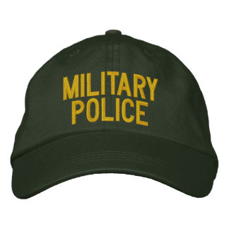 MILITARY POLICE EMBROIDERED BASEBALL CAP