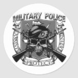 Military Police Round Sticker