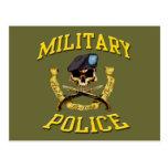 Military Police Skull Postcard