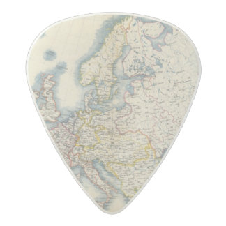 Military Political Map of Europe Acetal Guitar Pick