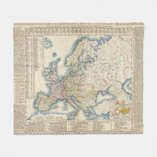 Military Political Map of Europe Fleece Blanket