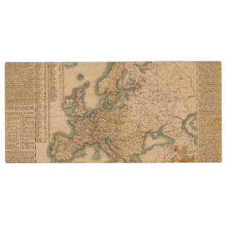 Military Political Map of Europe Wood USB 2.0 Flash Drive