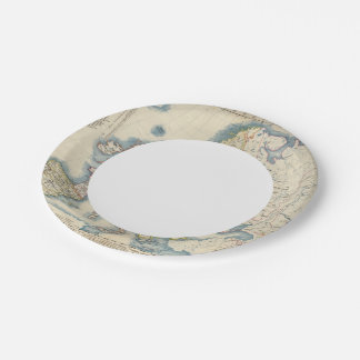 Military Political Map of Europe Paper Plate