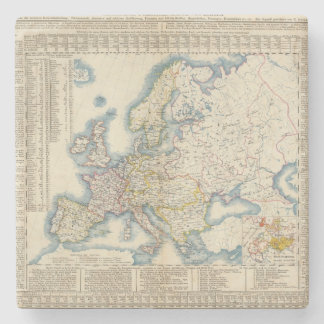 Military Political Map of Europe Stone Beverage Coaster