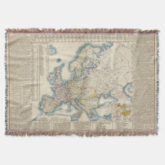 Military Political Map of Europe Throw Blanket