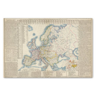 Military Political Map of Europe Tissue Paper
