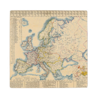 Military Political Map of Europe Wood Coaster