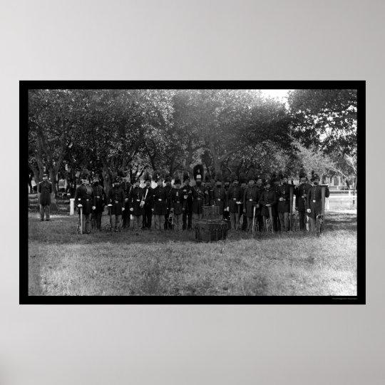 Military Post Band at Fort Monroe, VA 1864 Poster