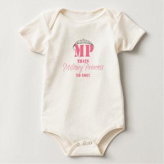 MILITARY PRINCESS BABY BODYSUIT