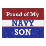 Military - Proud of My Navy Son - Thinking of You Card