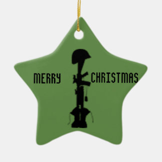 Military Remembrance Star Christmas Ornament