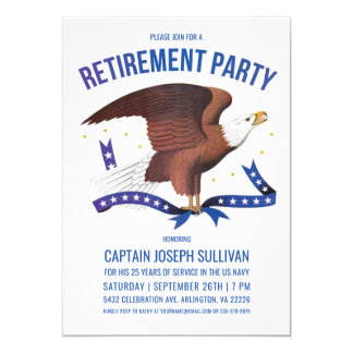 Military Retirement Invitations | Eagle