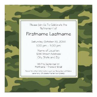 Military Retirement Party 13 Cm X 13 Cm Square Invitation Card