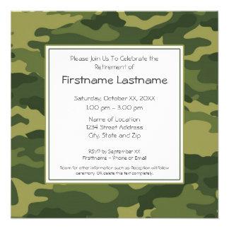 Military Retirement Party Custom Invite