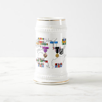 Military Ribbons 18 Oz Beer Stein