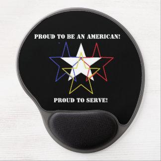 Military Salute Mousepad Gel Mouse Pad
