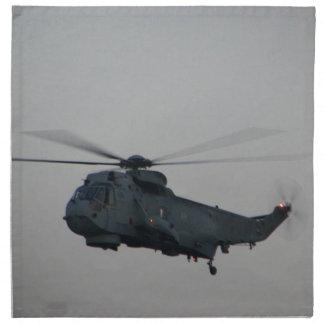 Military Sea King Helicopter Napkin