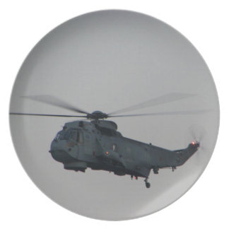 Military Sea King Helicopter Plate