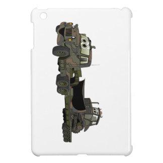 Military Semi Bulldozer Flatbed Cartoon iPad Mini Cases